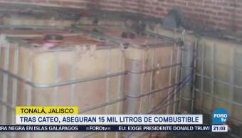 Aseguran combustible robado en Jalisco