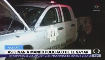 Asesinan al director de la Policía Municipal de El Nayar