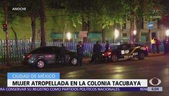 Atropellan a mujer en la colonia Tacubaya, CDMX