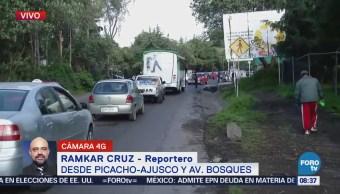 Atropellan a un hombre en la carretera Picacho Ajusco