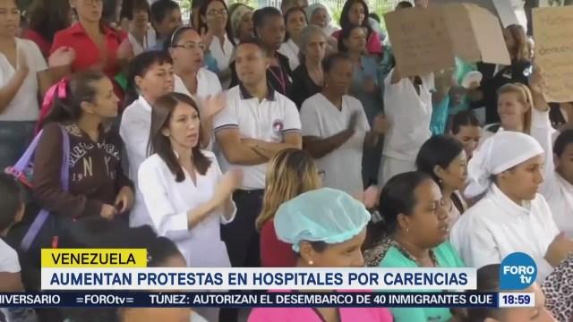 Aumentan Protestas Hospitales Carencias Venezuela