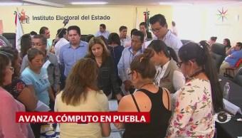 Avanza cómputo distrital en Puebla