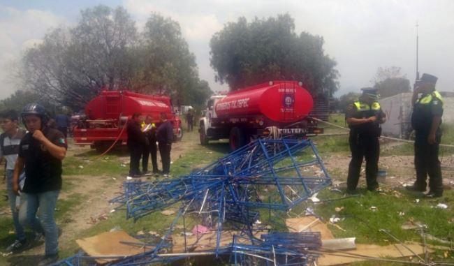 Dos bomberos lesionados en Tultepec continúan hospitalizados