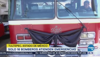 Bomberos Tultepec cuenta con 16 elementos para emergencias