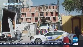 Cae barda perimetral de construcción en la colonia Doctores