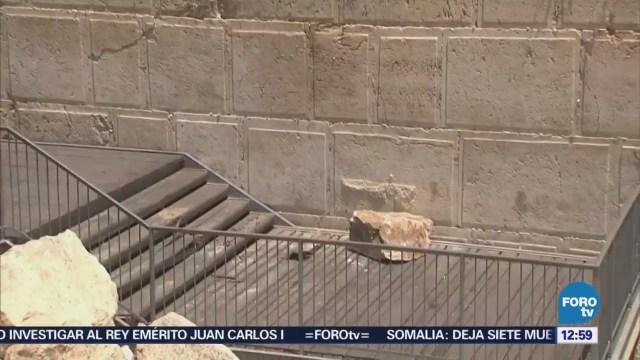Cae una piedra de 100 kilos del Muro de los Lamentos