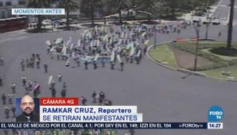 Grupo Manifestantes Se Retira Reforma Cdmx