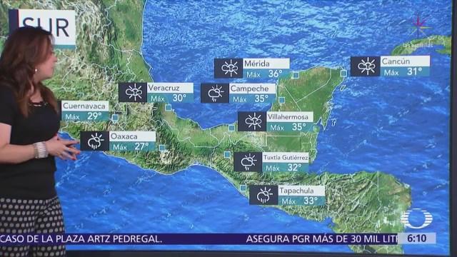 Canal de baja presión y onda tropical 16 ocasionarán lluvias en México