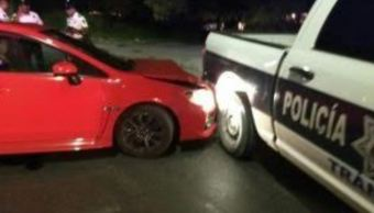 Conductor dispara a policías para evitar alcoholímetro
