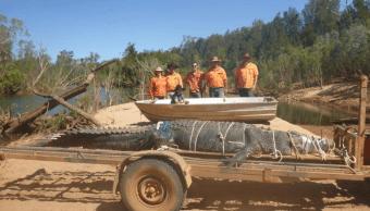 Capturan en Australia a un cocodrilo gigante