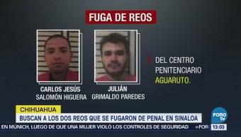 Chihuahua Busca 2 Reos Fugaron Penal Sinaloa