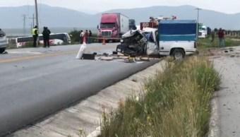 Mueren 4 por choque en carretera Saltillo-Zacatecas, Coahuila