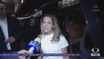 Chrystia Freeland llega a México