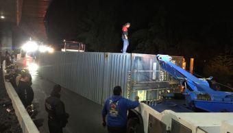 Cierran circulación en autopista Cuernavaca-México por volcadura