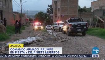 Comando armado irrumpe en fiesta y deja siete muertos en Tlaquepaque, Jalisco