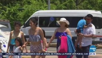 Comienzan Llegar Turistas Acapulco Guerrero Vacaciones
