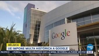 Comisión Europea Multa Google 5 Mil Mdd