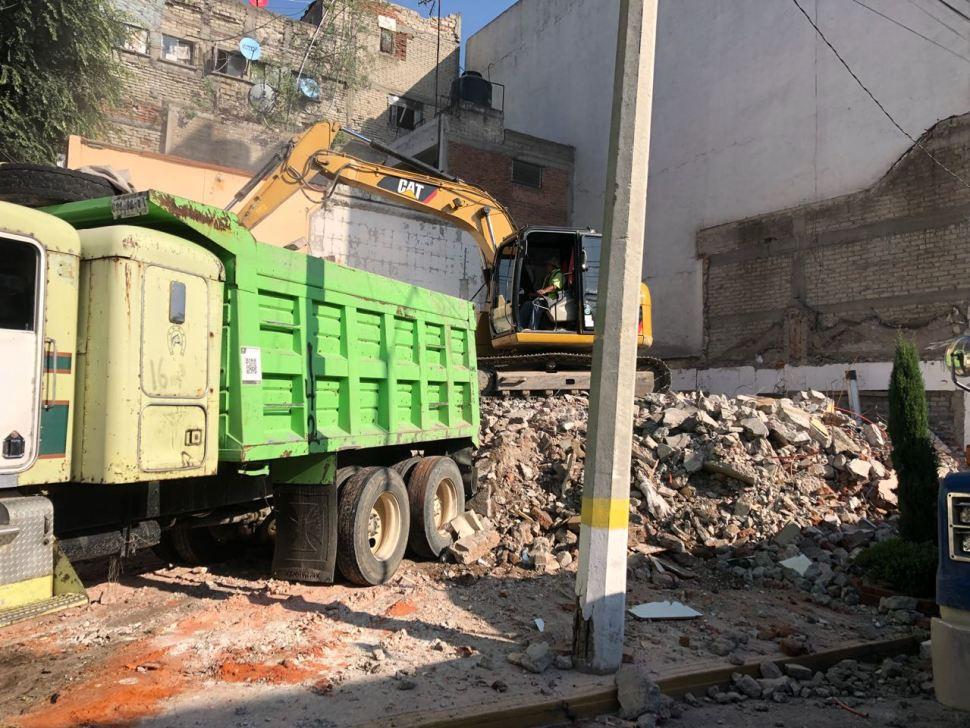 Concluye demolición de inmueble afectado por sismo en la GAM