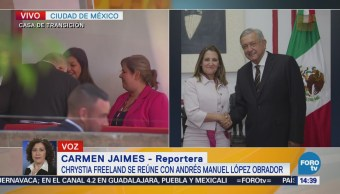 Continúa Reunión Freeland Equipo López Obrador