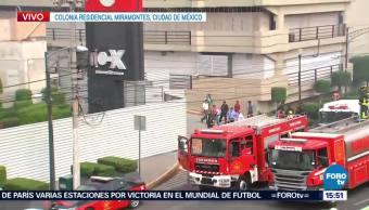 Controlan Incendio Plaza Comercial Coapa