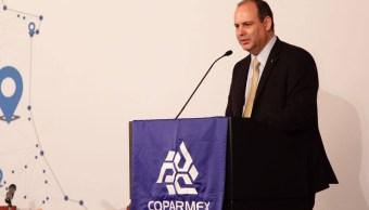 Coparmex apoya a AMLO, mantiene derecho a disentir: De Hoyos