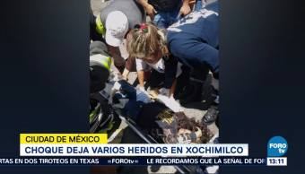 Deja Varios Heridos Choque Xochimilco
