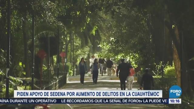 Delegación Cuauhtémoc Apoyo Sedena Delitos Crimen