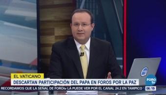 Descartan participación del papa en foros por la paz de López Obrador