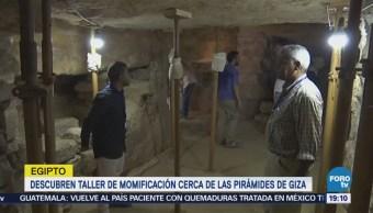 Descubren Taller Momificación Egipto Arqueología Pirámides