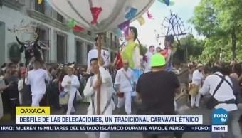 Desfilan delegaciones en Guelaguetza
