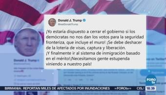 Trump Amenaza Cerrar Gobierno Muro