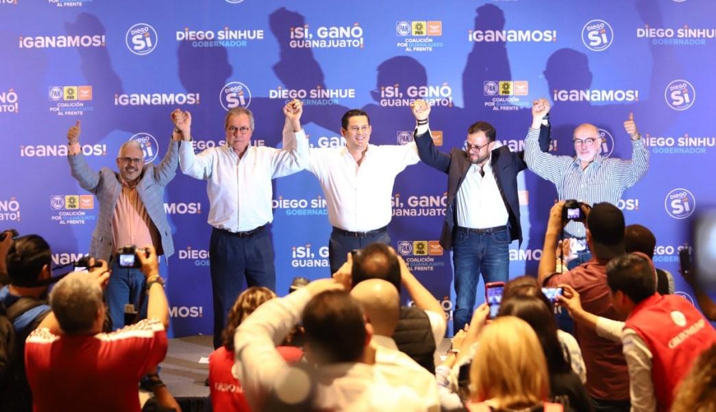 Diego Sinhué Rodríguez aventaja elección en Guanajuato