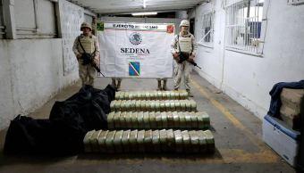 Ejército asegura cuatro maletas con droga en Sonora