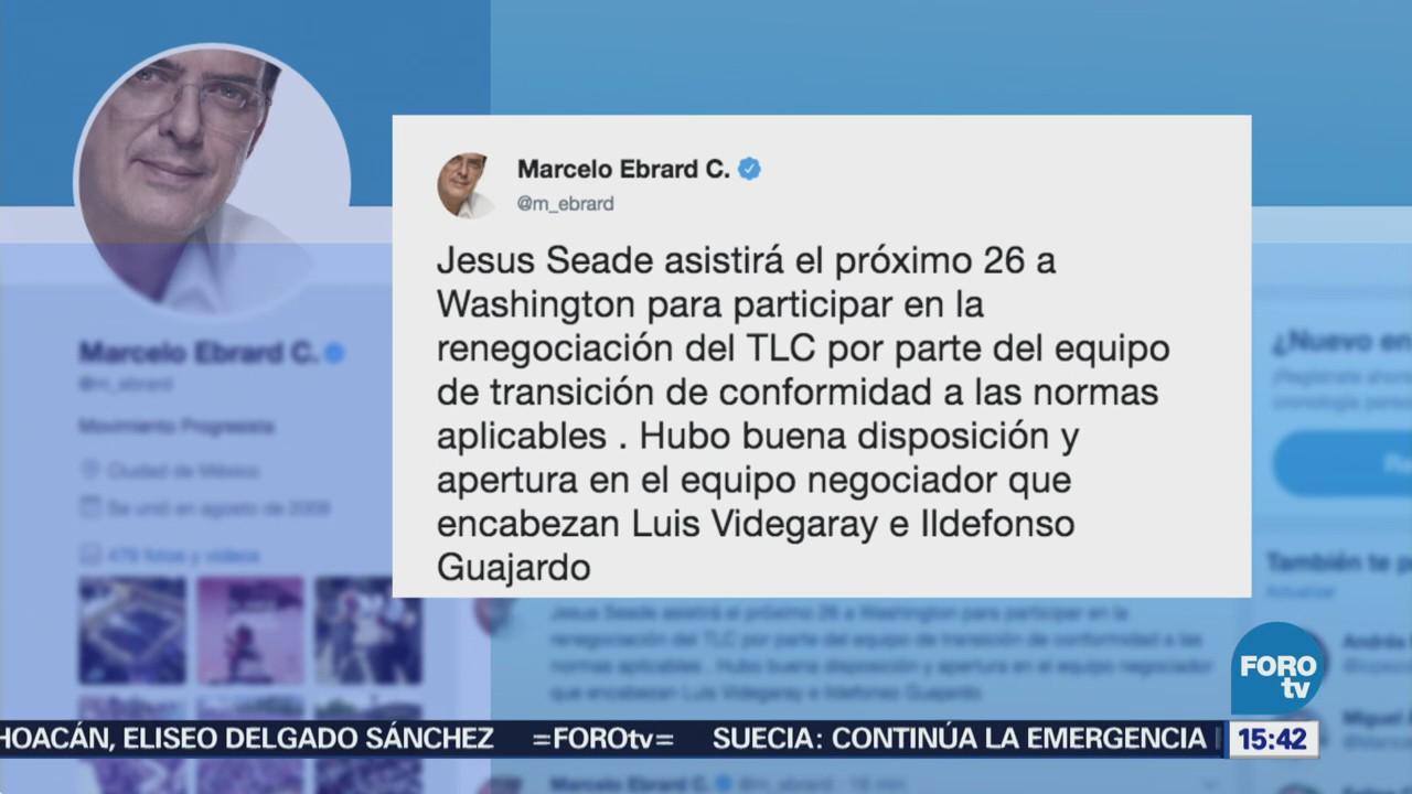 Ebrard Reúne Videgaray Guajardo