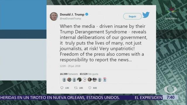 Editor del New York Times acusa a Trump de lenguaje divisivo