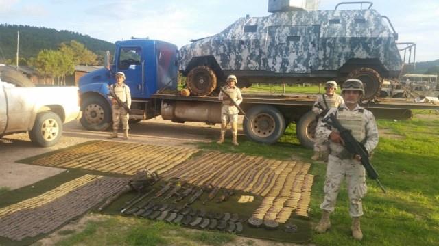 Ejército mexicano repele agresión y asegura armamento en Sonora