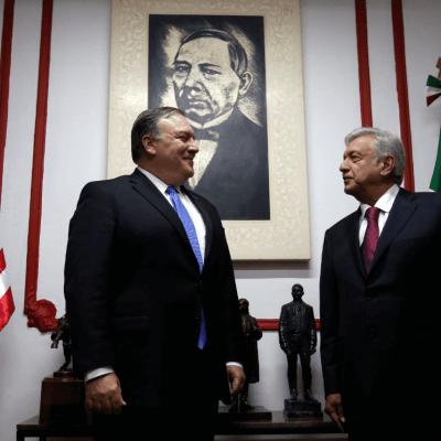 López Obrador recibe a Mike Pompeo en su casa de transición, en la CDMX