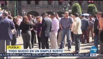 Puebla Desalojan Inmuebles Sismo Jueves Temblor