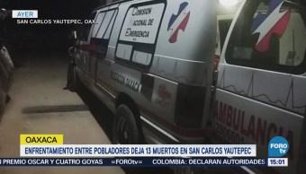 Enfrentamiento Oaxaca Deja Trece Muertos