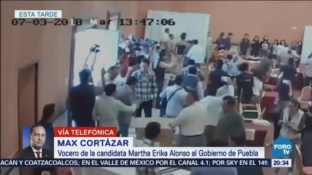 Enfrentamientos hotel de Puebla presunta