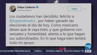 Fox y Calderón se suman a las felicitaciones