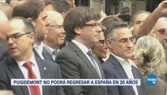 España retira orden de arresto contra Puigdemont