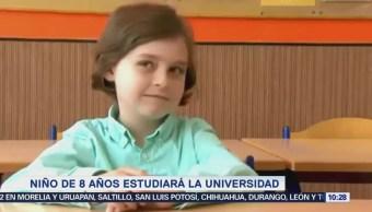 Extra Extra: Niño de 8 años cursará la universidad