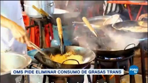 Oms Pide Eliminar Consumo Grasas Trans Alimentos