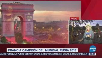Francia Celebra Victoria Mundial Rusia 2018