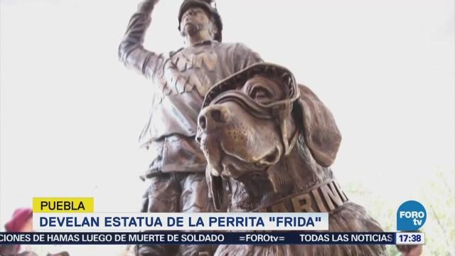 Frida Rescatista, Tiene Estatua Puebla