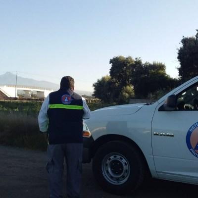 Continúa la quema controlada de gas en toma clandestina en Puebla