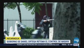 Gobierno de Ortega retoma control de Masaya