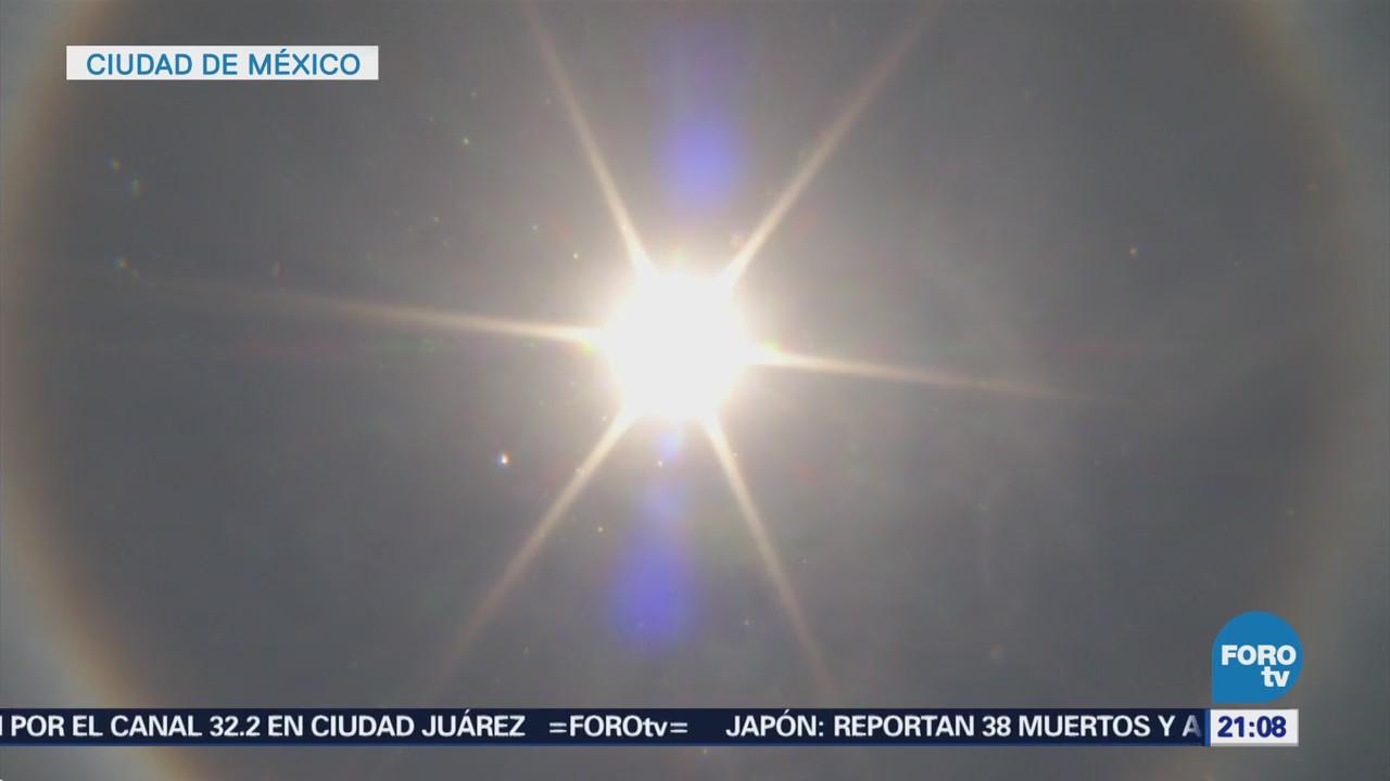 Halo Solar Sorprende Ciudad De México CDMX