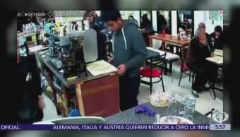 Hombres armados roban a clientes de cafetería en la delegación Tlalpan; CDMX